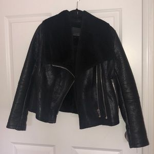 BlankNYC Faux leather/fur biker jacket